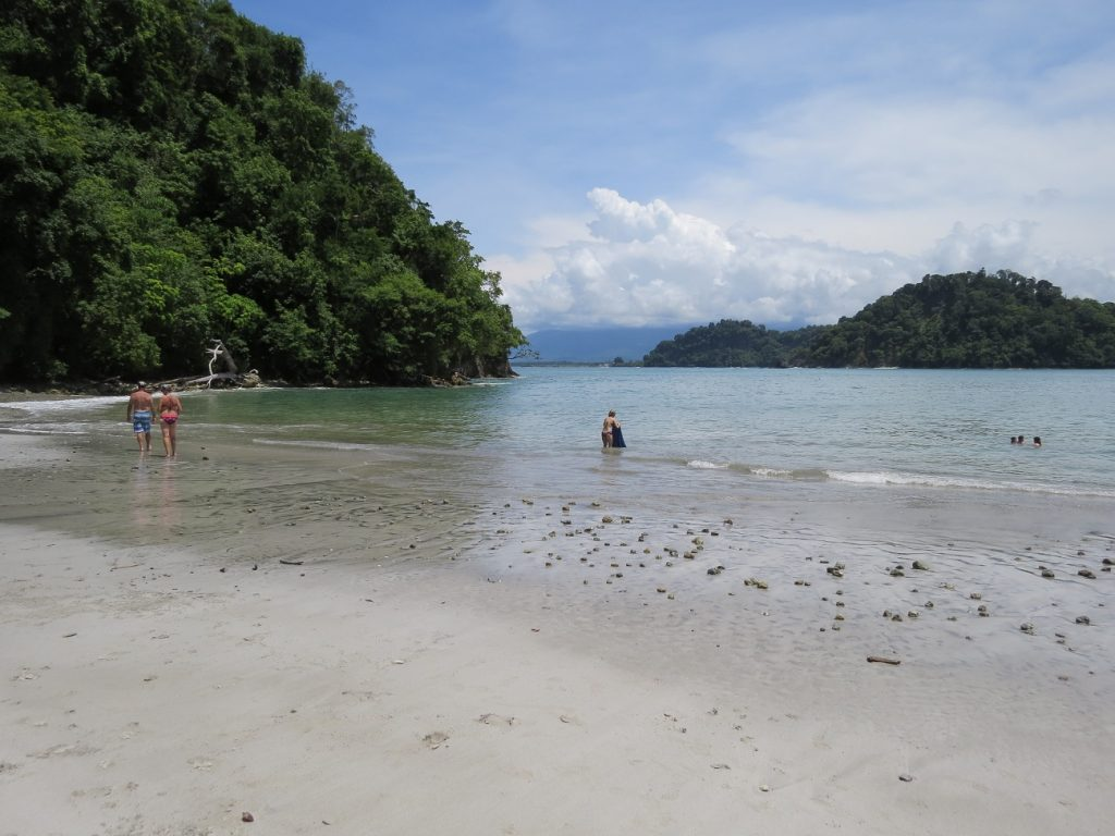 A pristine beach in Manuel Antonio, Costa Rica