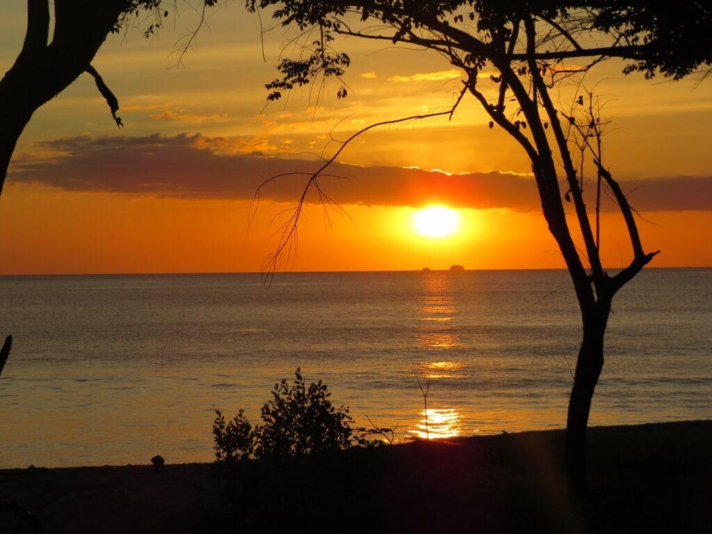Spectacular sunset at Sugar Beach Beach in Guanacaste Costa Rica