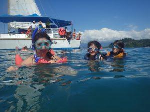 Catamaran sailing in Costa Rica