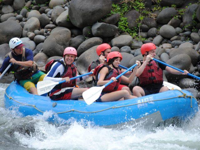 Asaf doing rafting in Sarapiqui River