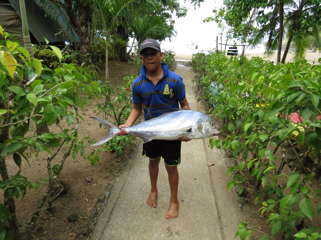 הדגה שנתפסה בדיג הספורטיבי באיזור קורקובדו קוסטה ריקה