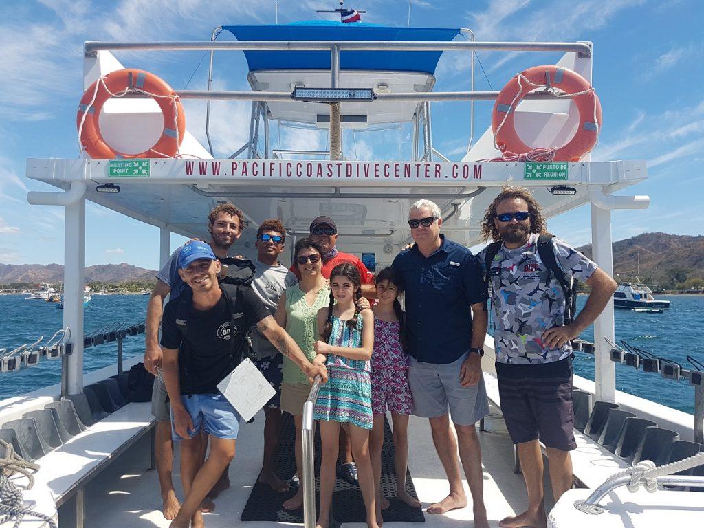 ספינת צלילה באיזור פלמינגו בקוסטה ריקה