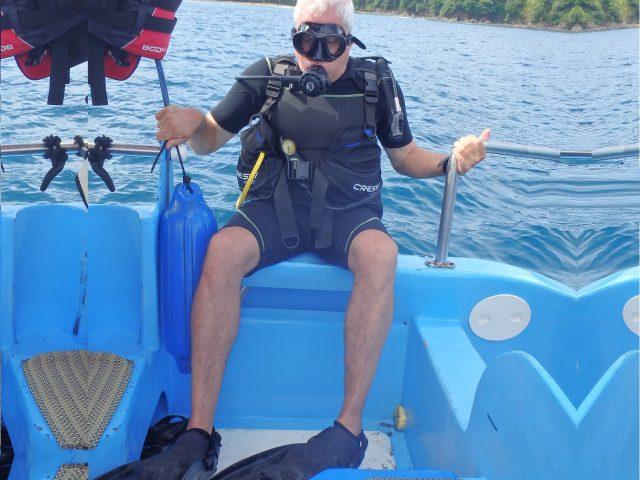 אסף לקראת צלילה באי קאניו