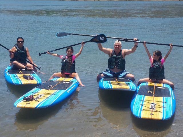 טיול סאפ משפחתי במפרץ ניקויה